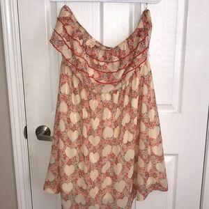 Strapless plus size spring dress